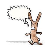 Funny rabbit with speech bubble — Stock Vector