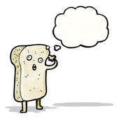 Sliced bread cartoon character — Stock Vector