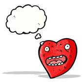 Cartoon funny love heart — Stock Vector