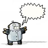 Cartoon pequeno robô — Vetor de Stock