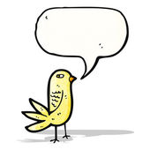 Angry cartoon bird — Stock Vector