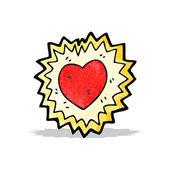 Símbolo do coração brilhante Cartoon — Vetor de Stock