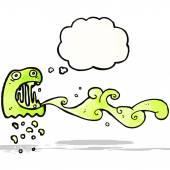 Gross slimy ghost cartoon — Stock Vector