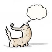 漫画のオオカミ — ストックベクタ