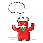 Hairy monster cartoon — Stock Vector