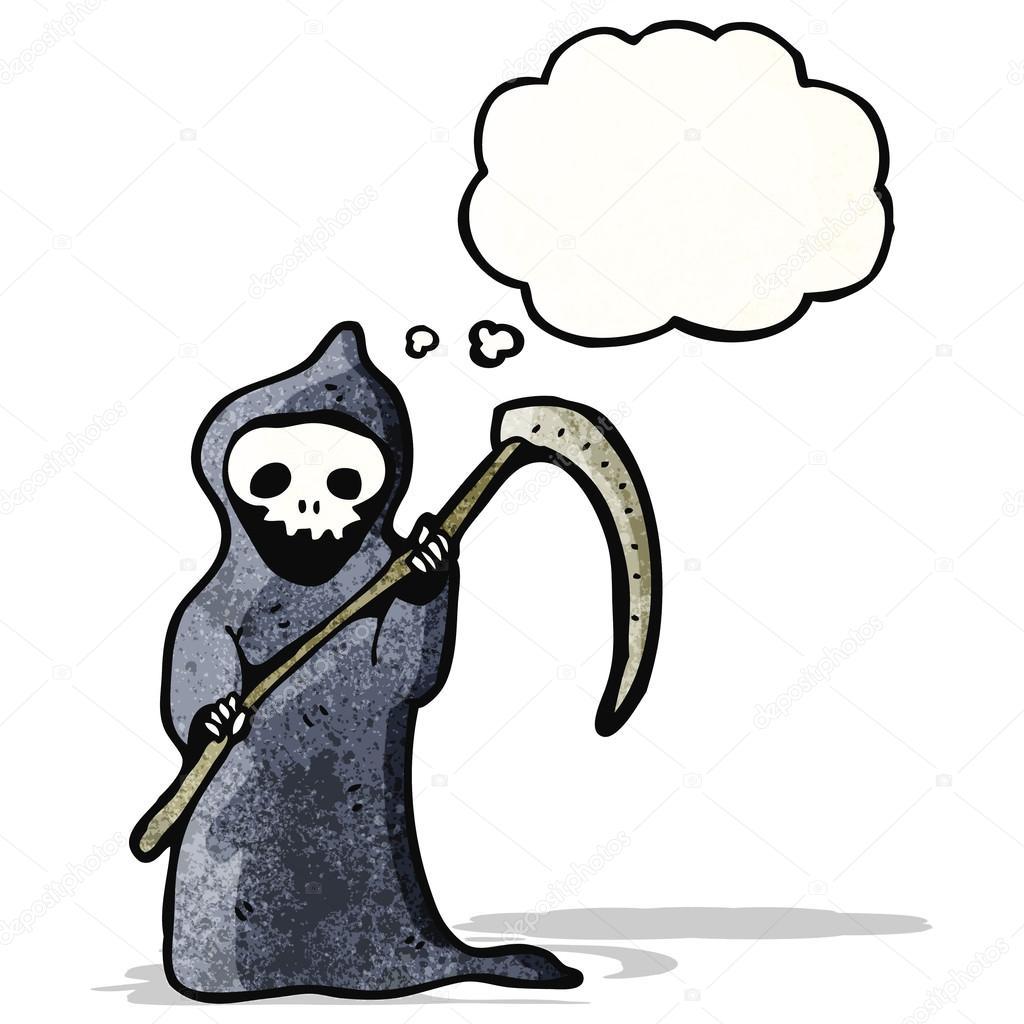 Desenhos animados morte com foice — vetor de stock