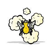 漫画の蜂 — ストックベクタ