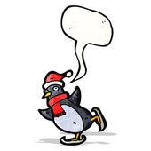 Pingwin kreskówka z dymek — Wektor stockowy