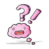 Cloud cartoon character — Stock Vector