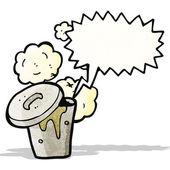 Gross rubbish bin cartoon — Stock Vector