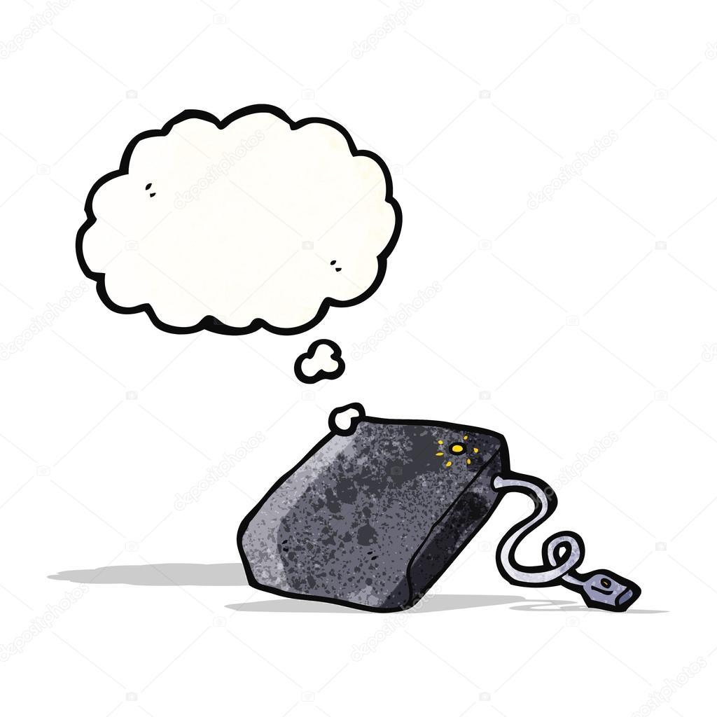 dessin anim disque dur illustration