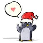 Cartoon penguin with love heart — Stock Vector #58063921