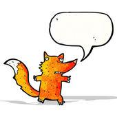 Cartoon fox with speech bubble — Stock Vector