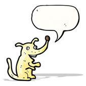 Küçük köpek konuşma balonu ile karikatür — Stok Vektör