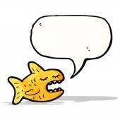 Dessin animé parlant de poissons — Vecteur