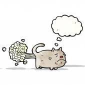 Cartoon farting cat — Stock Vector