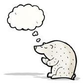 Cartoon polar bear — Stock Vector
