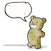 テディー ・ ベアの漫画 — ストックベクタ