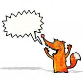 Cartoon excited fox — Stock Vector