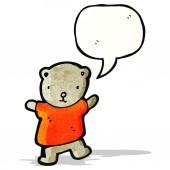 Cute teddy bear cartoon — Stock Vector