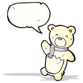 Waving little polar bear cub — Stock Vector