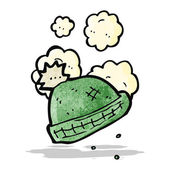 Cartoon gebreide wollige hoed — Stockvector