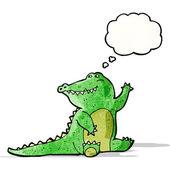 Friendly cartoon alligator — Stock Vector