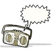 漫画ラジオ カセット プレーヤー — ストックベクタ
