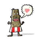 Cartoon man in boxer shorts — Stock Vector