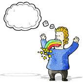 Cartoon crazy hallucination — Stock Vector