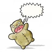 Crazy teddy bear cartoon — Stock Vector