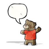 Talking teddy bear cartoon — Stock Vector