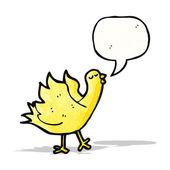 Cartoon yellow bird — Stock Vector