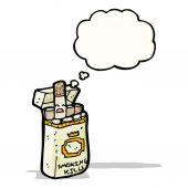 Cartoon cigarette packet — Stock Vector