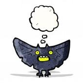 Dessin animé chauve-souris halloween — Vecteur