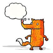 Funny cartoon fox — Stock Vector