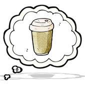 Cartoon coffee craving — Stock Vector