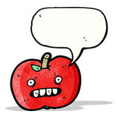 Cartoon ugly apple — Vetorial Stock