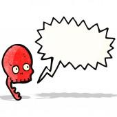 Cartoon sprechenden schädel — Stockvektor