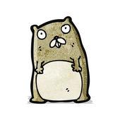 Funny cartoon beaver — Stock Vector