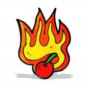 Flaming caricature cerise — Vecteur
