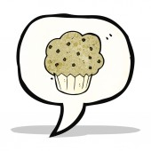 Símbolo de la historieta muffin — Vector de stock