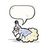 Dios en dibujos animados de nube — Vector de stock