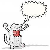 Gatto arrabbiato fumetto — Vettoriale Stock