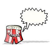 Talking boxer shorts cartoon — Stock Vector