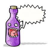 Frightened bottle cartoon character — Stock Vector