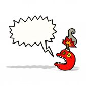 Stress bomb cartoon — Stock Vector