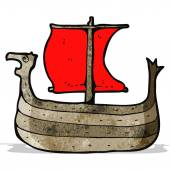 Viking ship cartoon — Stock Vector