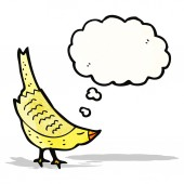 Cartoon bird with thought bubble — Stock Vector