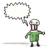 Scary zombie man cartoon — Stockvector